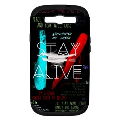 Twenty One Pilots Stay Alive Song Lyrics Quotes Samsung Galaxy S Iii Hardshell Case (pc+silicone)