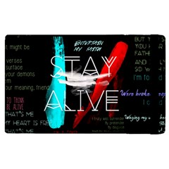 Twenty One Pilots Stay Alive Song Lyrics Quotes Apple iPad 2 Flip Case