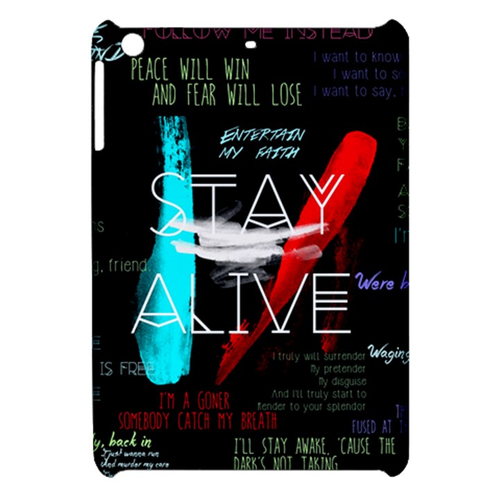 Twenty One Pilots Stay Alive Song Lyrics Quotes Apple iPad Mini Hardshell Case
