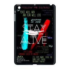 Twenty One Pilots Stay Alive Song Lyrics Quotes Apple iPad Mini Case (Black)