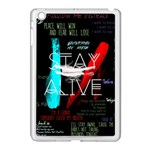 Twenty One Pilots Stay Alive Song Lyrics Quotes Apple iPad Mini Case (White) Front