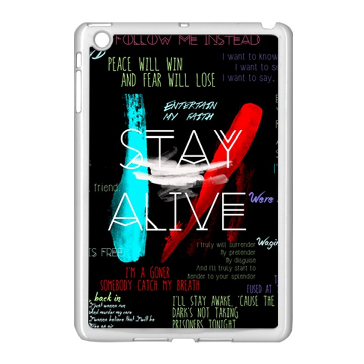 Twenty One Pilots Stay Alive Song Lyrics Quotes Apple iPad Mini Case (White)