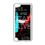 Twenty One Pilots Stay Alive Song Lyrics Quotes Apple iPod Touch 5 Case (White) Front