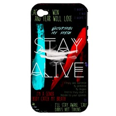 Twenty One Pilots Stay Alive Song Lyrics Quotes Apple Iphone 4/4s Hardshell Case (pc+silicone)