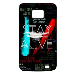 Twenty One Pilots Stay Alive Song Lyrics Quotes Samsung Galaxy S II i9100 Hardshell Case (PC+Silicone)