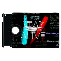 Twenty One Pilots Stay Alive Song Lyrics Quotes Apple iPad 2 Flip 360 Case