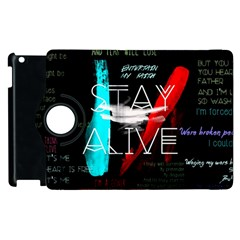 Twenty One Pilots Stay Alive Song Lyrics Quotes Apple iPad 3/4 Flip 360 Case