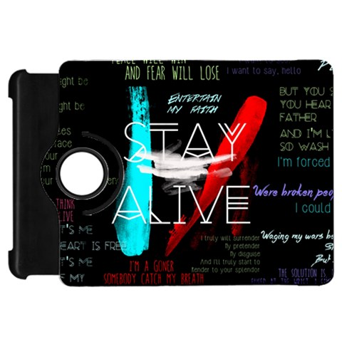 Twenty One Pilots Stay Alive Song Lyrics Quotes Kindle Fire HD Flip 360 Case