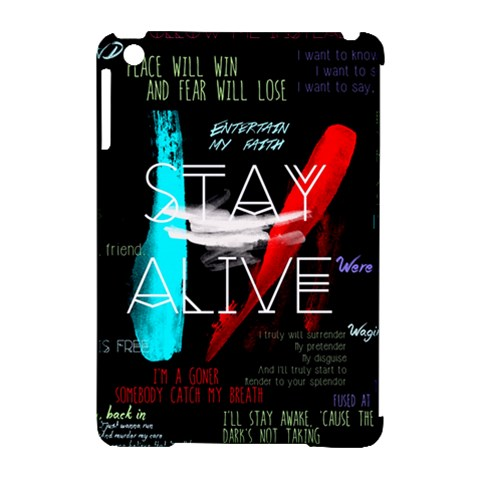 Twenty One Pilots Stay Alive Song Lyrics Quotes Apple iPad Mini Hardshell Case (Compatible with Smart Cover)