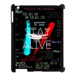 Twenty One Pilots Stay Alive Song Lyrics Quotes Apple iPad 3/4 Case (Black) Front