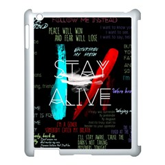 Twenty One Pilots Stay Alive Song Lyrics Quotes Apple iPad 3/4 Case (White)