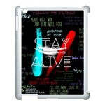 Twenty One Pilots Stay Alive Song Lyrics Quotes Apple iPad 3/4 Case (White) Front