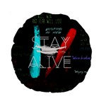 Twenty One Pilots Stay Alive Song Lyrics Quotes Standard 15  Premium Round Cushions Back