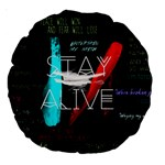 Twenty One Pilots Stay Alive Song Lyrics Quotes Large 18  Premium Round Cushions Front
