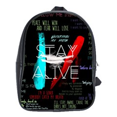 Twenty One Pilots Stay Alive Song Lyrics Quotes School Bags (XL)