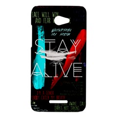 Twenty One Pilots Stay Alive Song Lyrics Quotes HTC Butterfly X920E Hardshell Case
