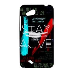 Twenty One Pilots Stay Alive Song Lyrics Quotes HTC Desire VC (T328D) Hardshell Case