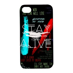 Twenty One Pilots Stay Alive Song Lyrics Quotes Apple iPhone 4/4S Hardshell Case with Stand