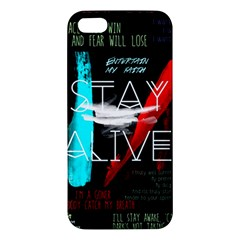 Twenty One Pilots Stay Alive Song Lyrics Quotes Apple iPhone 5 Premium Hardshell Case