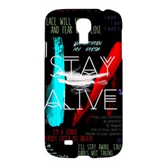Twenty One Pilots Stay Alive Song Lyrics Quotes Samsung Galaxy S4 I9500/I9505 Hardshell Case