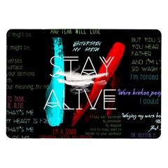 Twenty One Pilots Stay Alive Song Lyrics Quotes Samsung Galaxy Tab 10.1  P7500 Flip Case