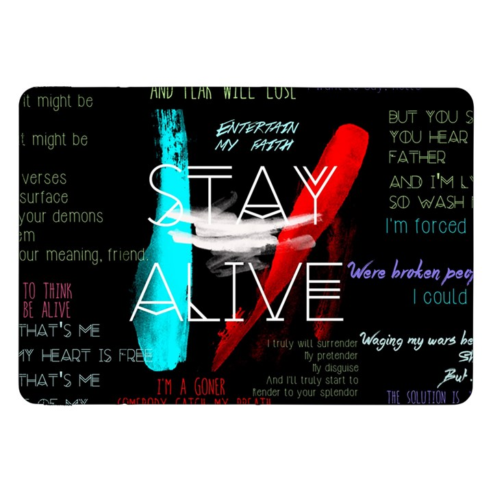 Twenty One Pilots Stay Alive Song Lyrics Quotes Samsung Galaxy Tab 8.9  P7300 Flip Case