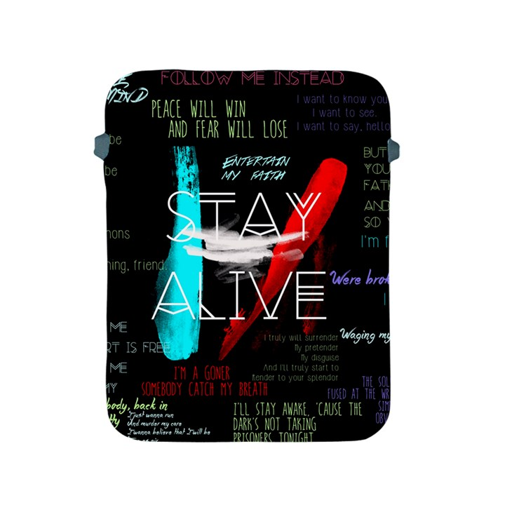 Twenty One Pilots Stay Alive Song Lyrics Quotes Apple iPad 2/3/4 Protective Soft Cases