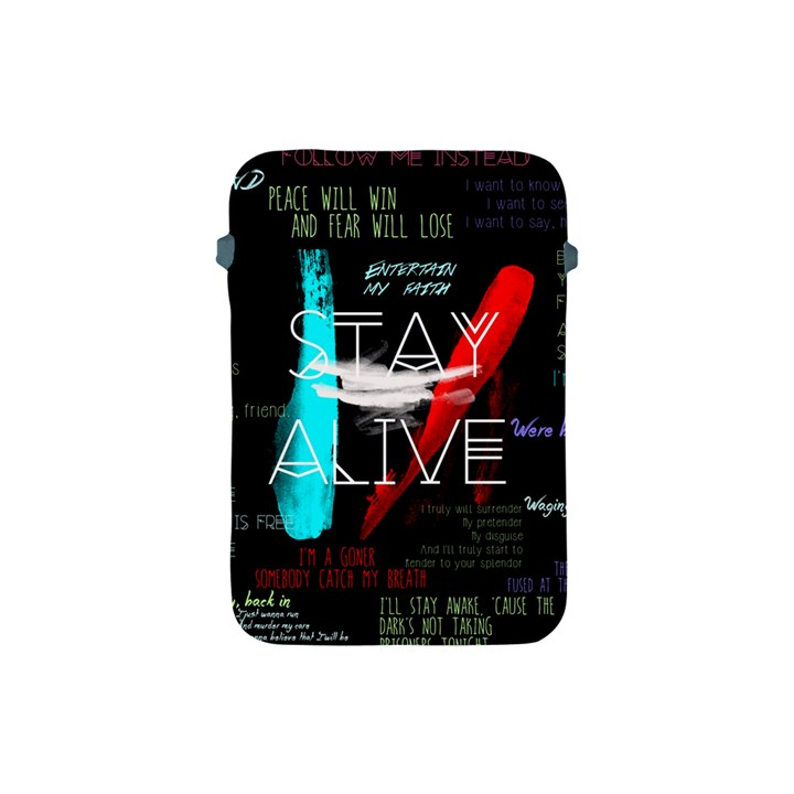 Twenty One Pilots Stay Alive Song Lyrics Quotes Apple iPad Mini Protective Soft Cases