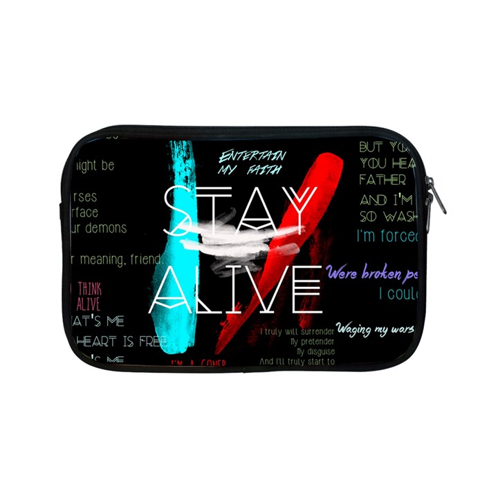 Twenty One Pilots Stay Alive Song Lyrics Quotes Apple iPad Mini Zipper Cases