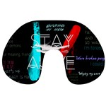 Twenty One Pilots Stay Alive Song Lyrics Quotes Travel Neck Pillows Front
