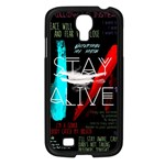 Twenty One Pilots Stay Alive Song Lyrics Quotes Samsung Galaxy S4 I9500/ I9505 Case (Black) Front