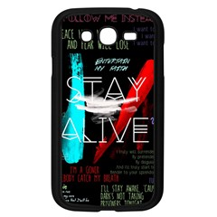 Twenty One Pilots Stay Alive Song Lyrics Quotes Samsung Galaxy Grand DUOS I9082 Case (Black)