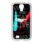Twenty One Pilots Stay Alive Song Lyrics Quotes Samsung GALAXY S4 I9500/ I9505 Case (White) Front