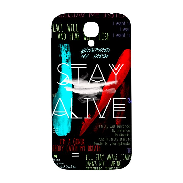 Twenty One Pilots Stay Alive Song Lyrics Quotes Samsung Galaxy S4 I9500/I9505  Hardshell Back Case