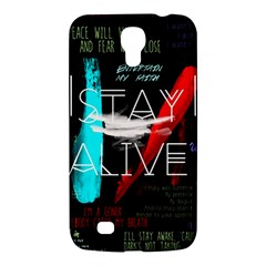 Twenty One Pilots Stay Alive Song Lyrics Quotes Samsung Galaxy Mega 6.3  I9200 Hardshell Case
