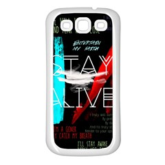 Twenty One Pilots Stay Alive Song Lyrics Quotes Samsung Galaxy S3 Back Case (white)