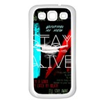 Twenty One Pilots Stay Alive Song Lyrics Quotes Samsung Galaxy S3 Back Case (White) Front