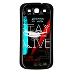 Twenty One Pilots Stay Alive Song Lyrics Quotes Samsung Galaxy S3 Back Case (Black) Front