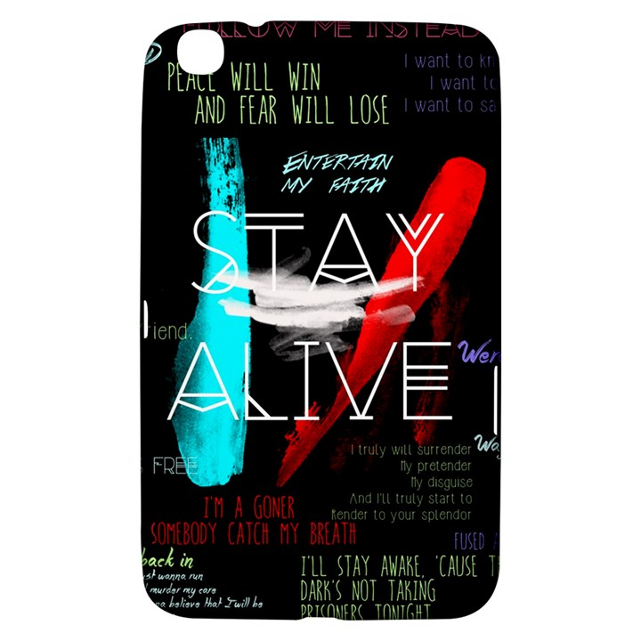 Twenty One Pilots Stay Alive Song Lyrics Quotes Samsung Galaxy Tab 3 (8 ) T3100 Hardshell Case