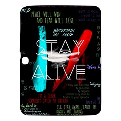 Twenty One Pilots Stay Alive Song Lyrics Quotes Samsung Galaxy Tab 3 (10.1 ) P5200 Hardshell Case
