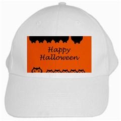 Happy Halloween - owls White Cap