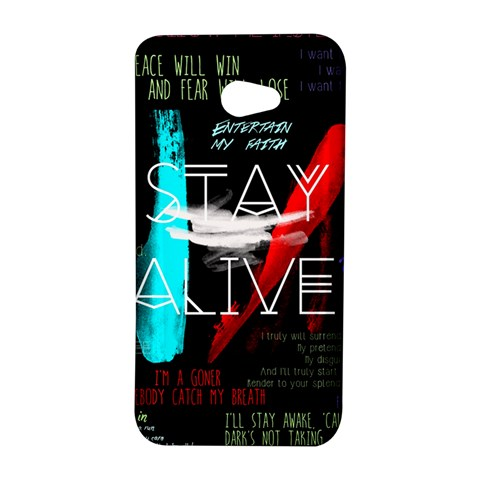 Twenty One Pilots Stay Alive Song Lyrics Quotes HTC Butterfly S/HTC 9060 Hardshell Case