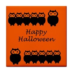 Happy Halloween   Owls Tile Coasters