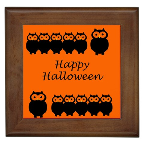 Happy Halloween - owls Framed Tiles