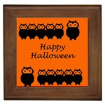 Happy Halloween - owls Framed Tiles Front