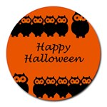 Happy Halloween - owls Round Mousepads Front