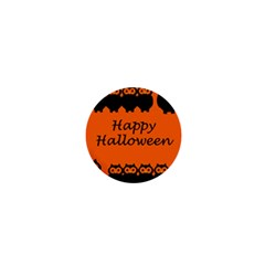Happy Halloween - owls 1  Mini Buttons