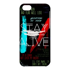 Twenty One Pilots Stay Alive Song Lyrics Quotes Apple iPhone 5C Hardshell Case