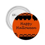 Happy Halloween - owls 2.25  Buttons Front