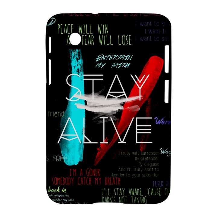 Twenty One Pilots Stay Alive Song Lyrics Quotes Samsung Galaxy Tab 2 (7 ) P3100 Hardshell Case